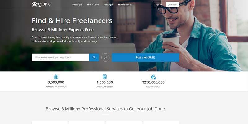 freelance websites make money online guru